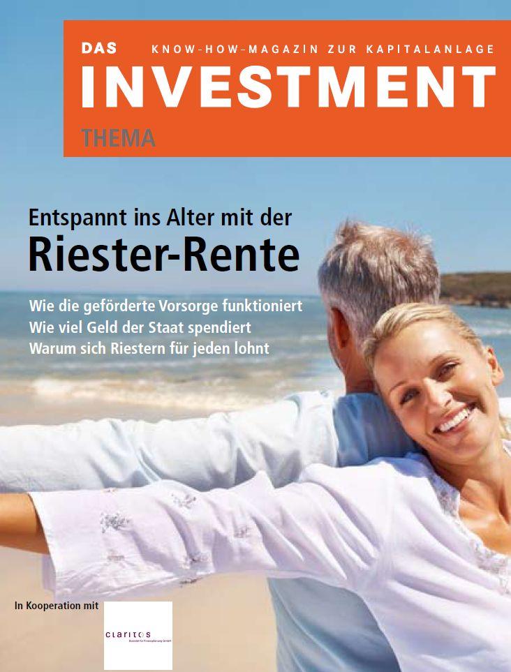 """Titelblatt der Zeitschrift """"Das Investment"""""""